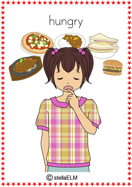 flashcards feeling hungry clipart black and white hunger clipart