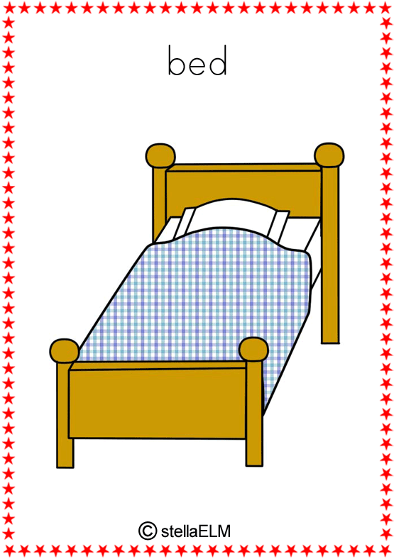 flashcards in the house : bed from stellaelm.net size 555 x 788 png 62kB