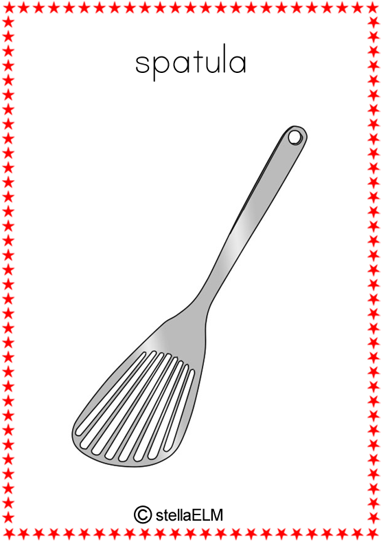 Flashcards Kitchen Utensils