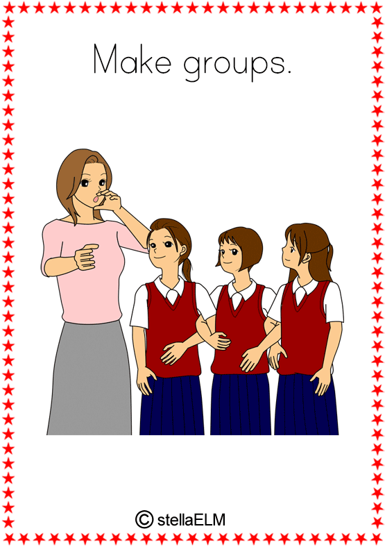 Flashcards Classroom Actions