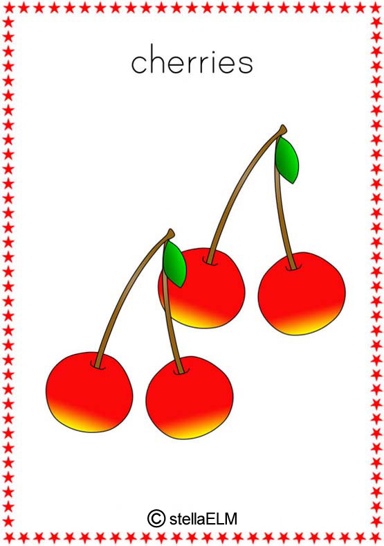 Flashcards Fruits