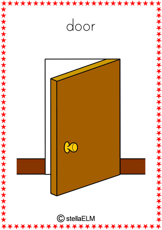 flashcards in the house : door from stellaelm.net size 555 x 788 png 36kB